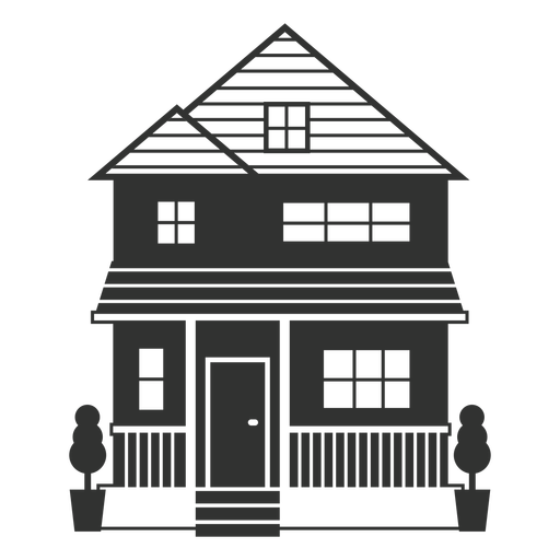Traditional american small house icon
