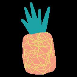 Doodle abstrato de abacaxi