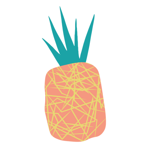 Abstract doodle pineapple