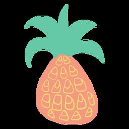 Desenho de abacaxi rabisco