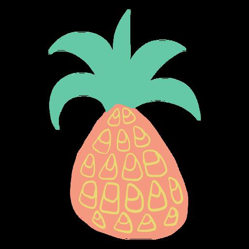 Doodle pineapple design Transparent PNG