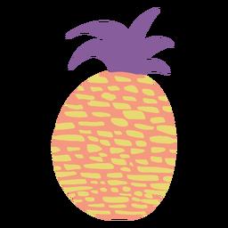 Icono de piña Doodle
