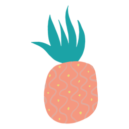Doodle dotted pinneapple