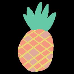 Doodle design simples de abacaxi