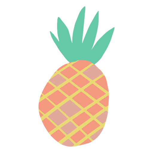 Doodle pineapple simple design