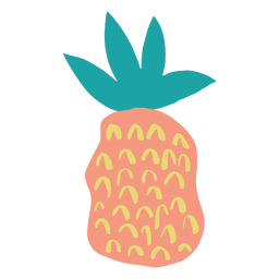 Wavy doodle abstract pineapple