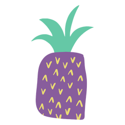 Purple doodle pineapple