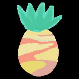 Doodle pineapple fruit
