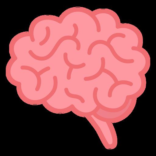 Flat stroke simple pink brain