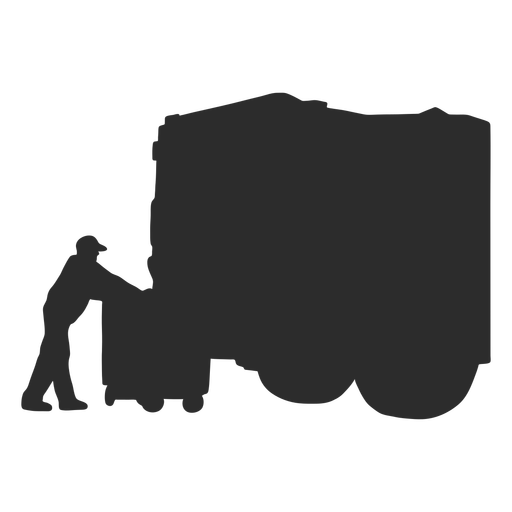 Waste collector with back of truck silhouette