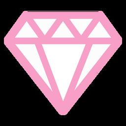 Diamante rosa geométrico