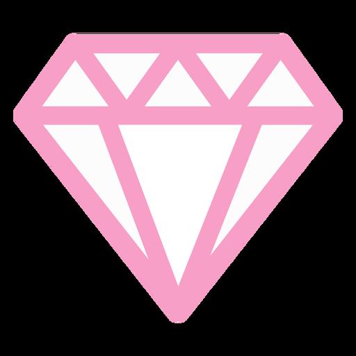 Pink diamond geometric Transparent PNG