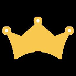 Einfache flache goldene Krone
