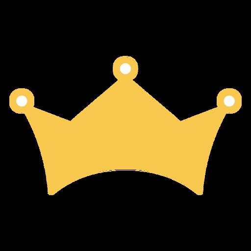 Corona dorada plana simple