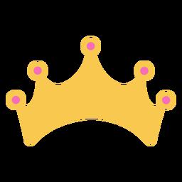 Corona dorada simple con detalles.