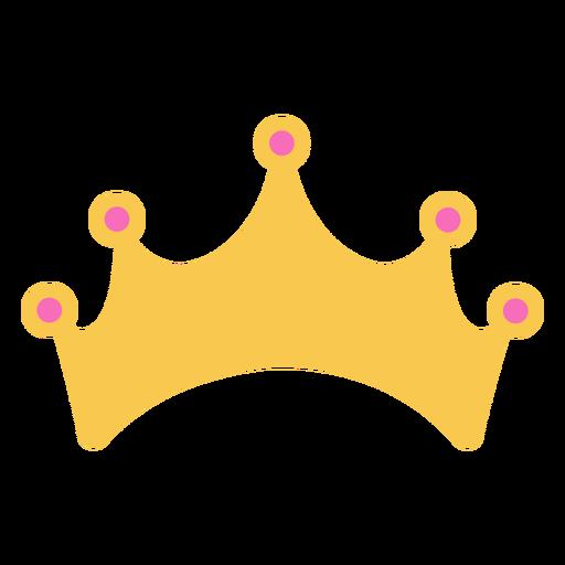 Coroa dourada simples com detalhes