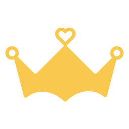 Crown heart decoration