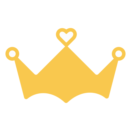 Crown heart decoration