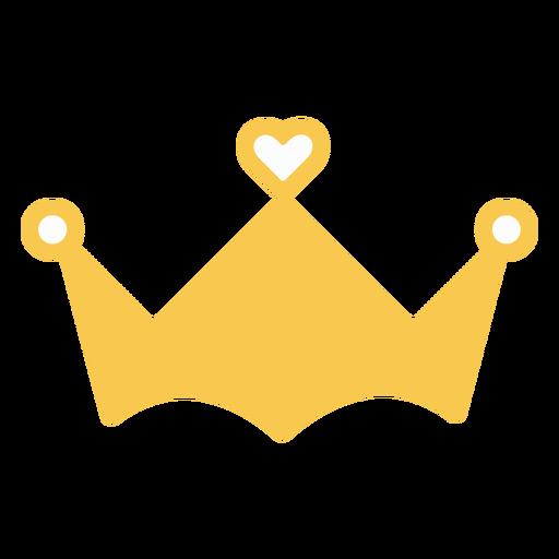 Decoración de corazón de corona
