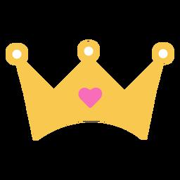 Diamante corazón corona