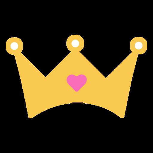 Crown heart diamond