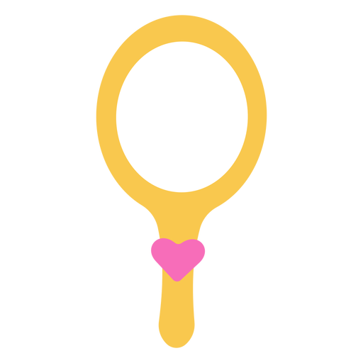 Corazón de espejo de mano Transparent PNG