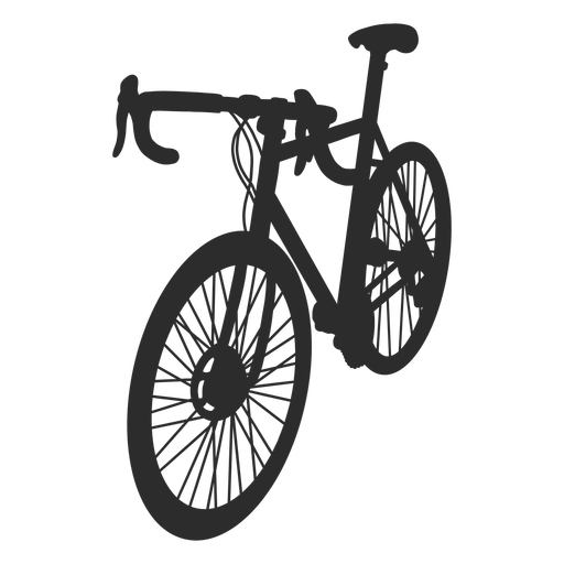 Racing bicycle silhouette