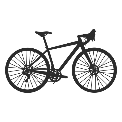 Competition bicycle side silhouette