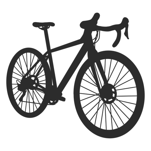 Racing bicycle side silhouette