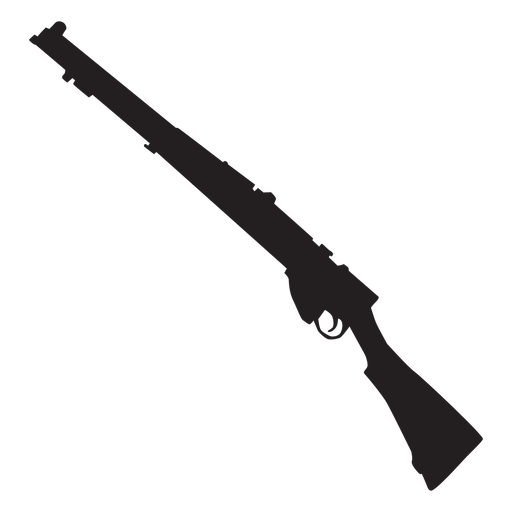 Shotgun army weapon silhouette