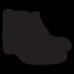 Soldier combat boots cut-out