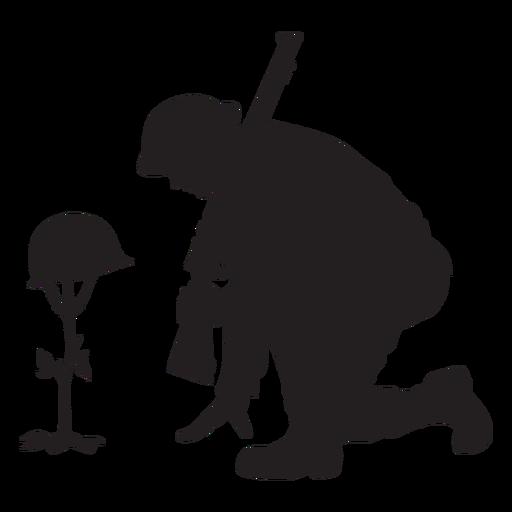 Soldier memorial silhouette