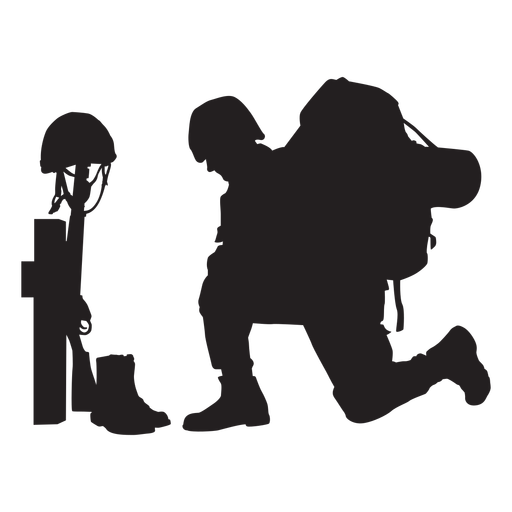Soldier army memorial silhouette