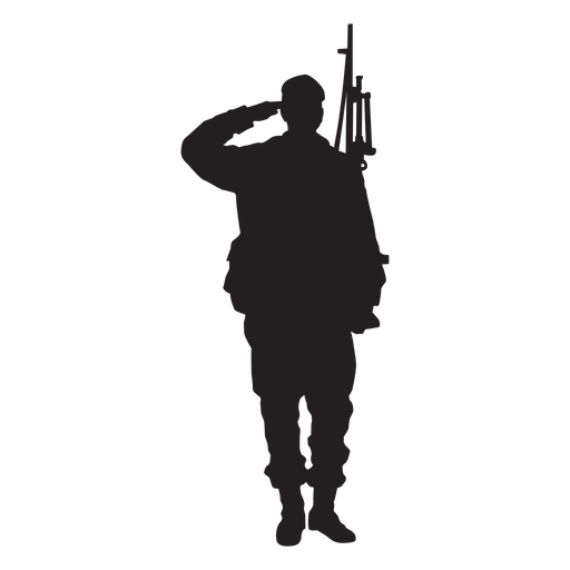 Soldier silhouette salute