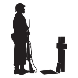 Soldier grave silhouette