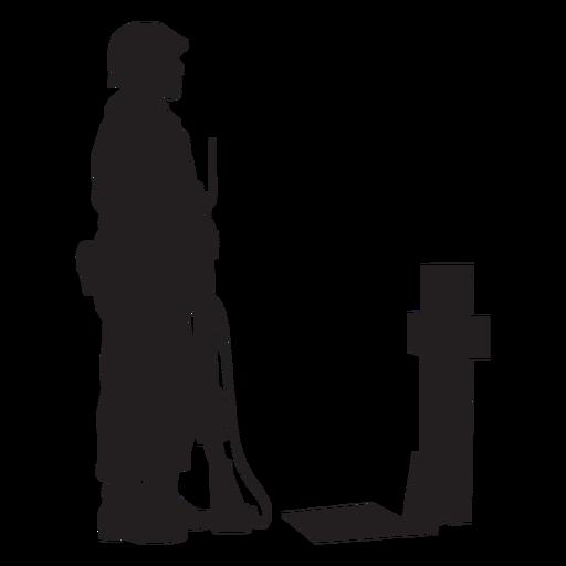 Soldier grave silhouette