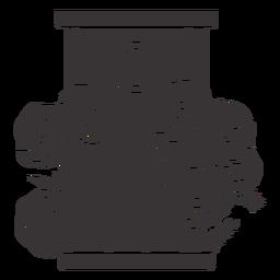 Grave rose decoration