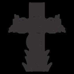 Cross rose grave decoration