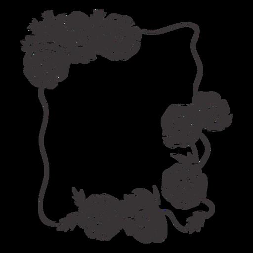 Photo frame flower decoration
