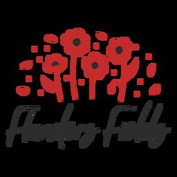 Flanders fields poppy badge