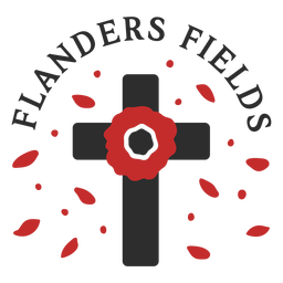 Remembrance day tombstone badge