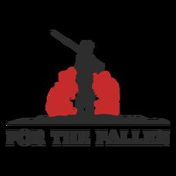 For the fallen memorial badge