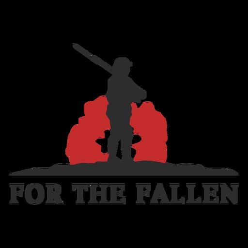 For the fallen memorial badge Transparent PNG