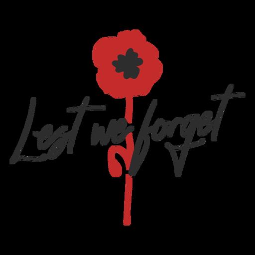 Lest we forget memorial badge