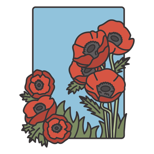 Remembrance day poppy flowers