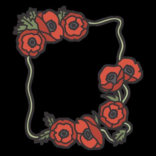 Poppy flowers frame