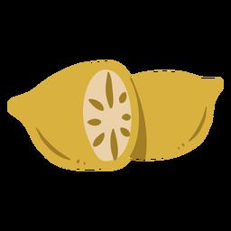 Lemon slice fruit