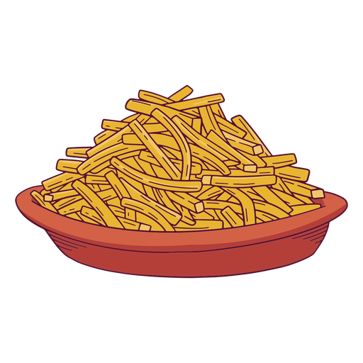 French fries plate illustration