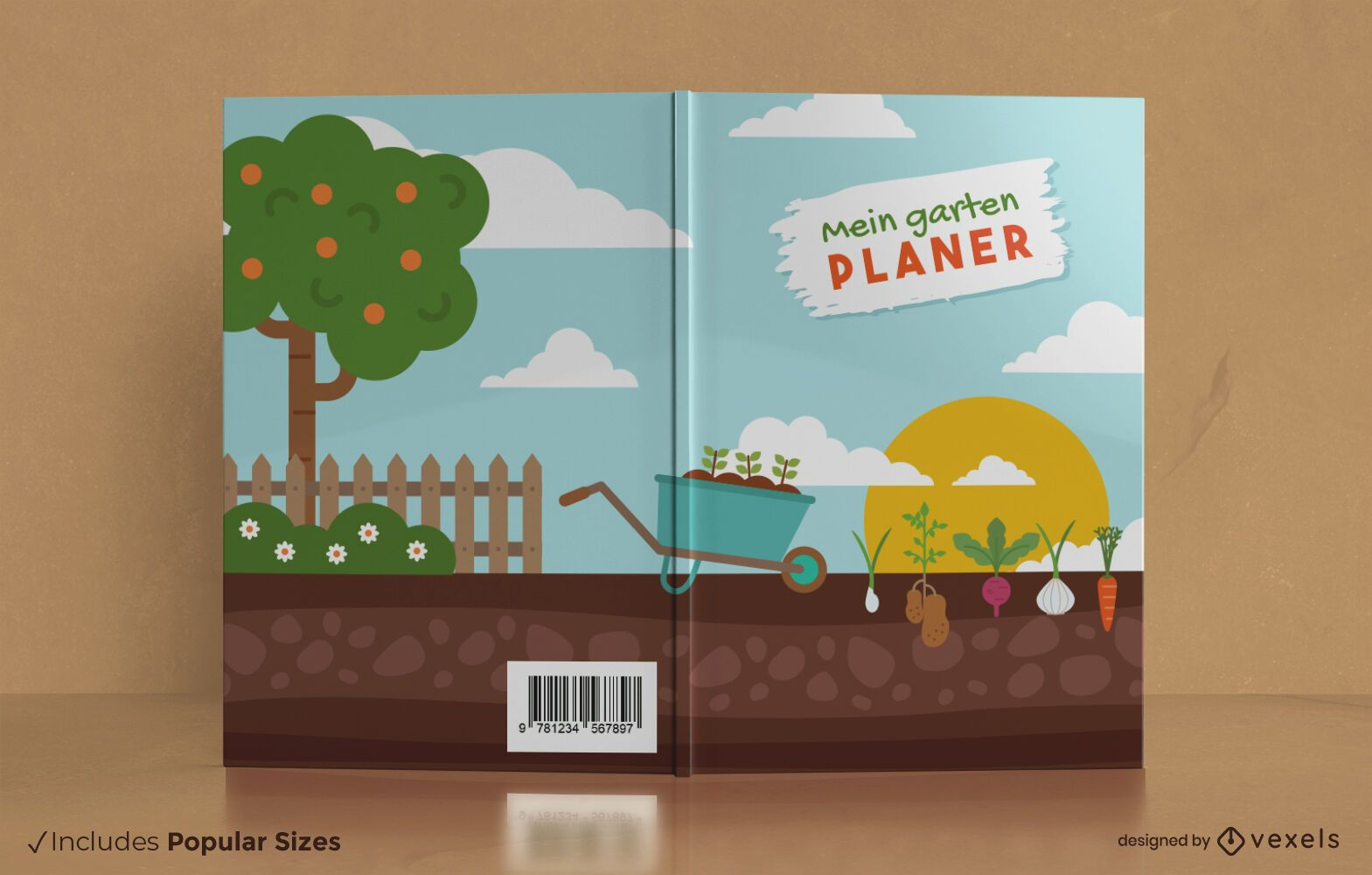 Diseño de portada de libro mein garten planer