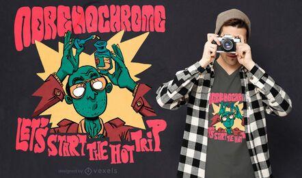 Andrenochrome trip t-shirt design